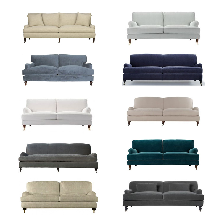 the perfect English roll arm sofa