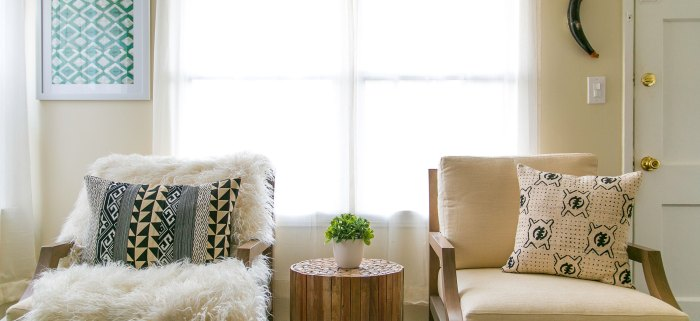 How to Decorate with African Mudcloth if you aren't all that BOHO!