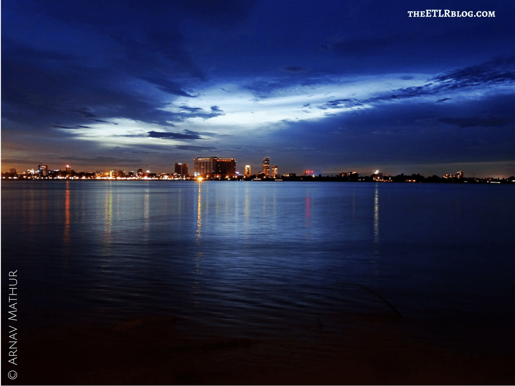 The Phnom Penh skyline at night Cambodia MAADS Mekong