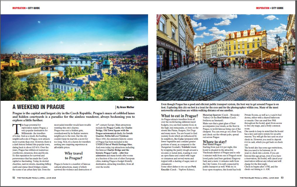 Eat Travel Live Repeat in print Prague