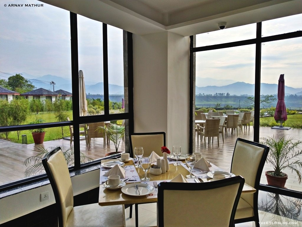 Dining with a view at Mountain Glory Forest Resort and Spa