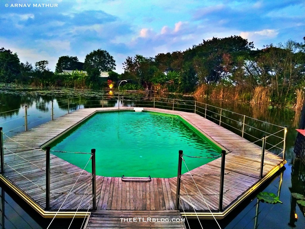 The Floating Swimming pool at ViewPoint Eco Lodge