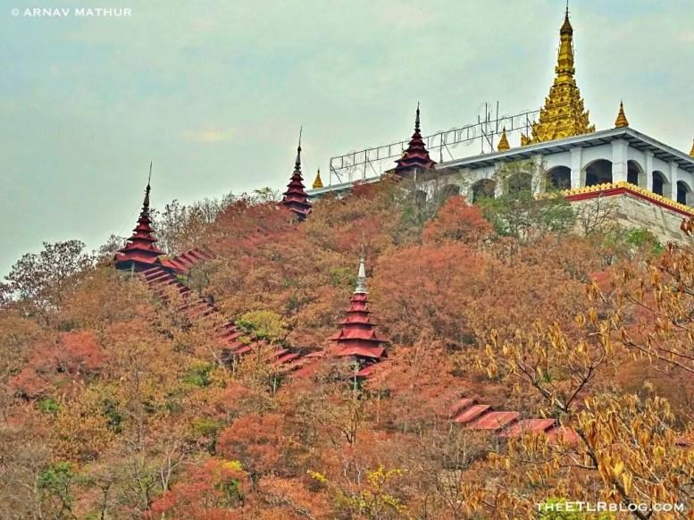All the way up Mandalay Hill