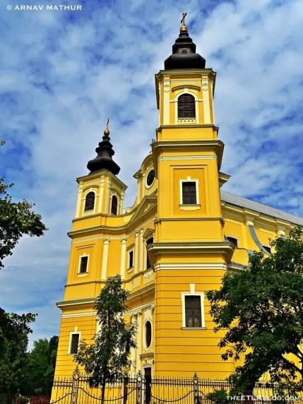 Oradea Roman Cathedral facade