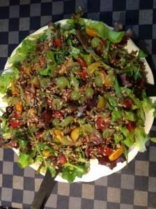 salade met asperges, voor de lunch