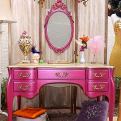 Pink Vanity Chair Bedroom Thing Jessica Rabbit Esque Hot Glam Desk And Mirror