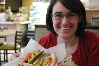 While I [Emily] was really nervous to try a Chicago dog, they turned out to be really yummy!