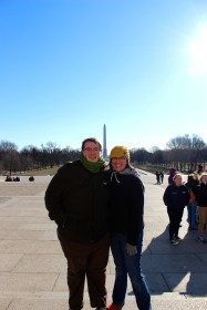 Us with Washington in the background.