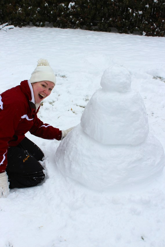 Agnes oversaw the project as our resident expert on snow.