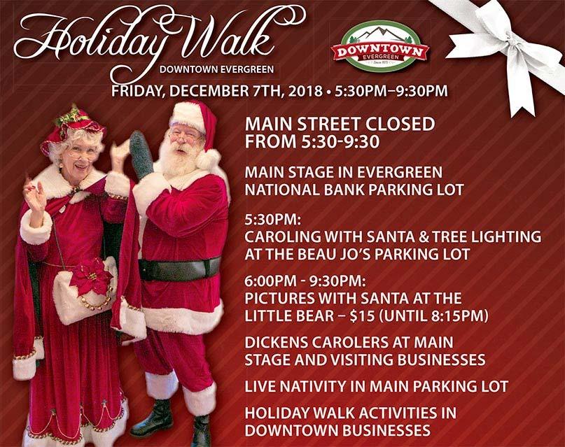 Evergreen Co - Holiday Walk Schedule