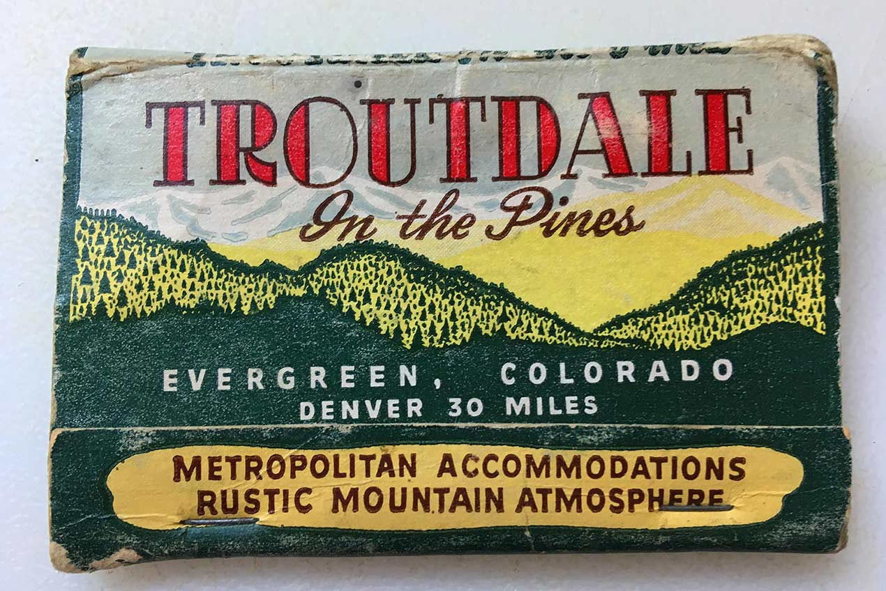 Troutdale Hotel Matchbook Cover