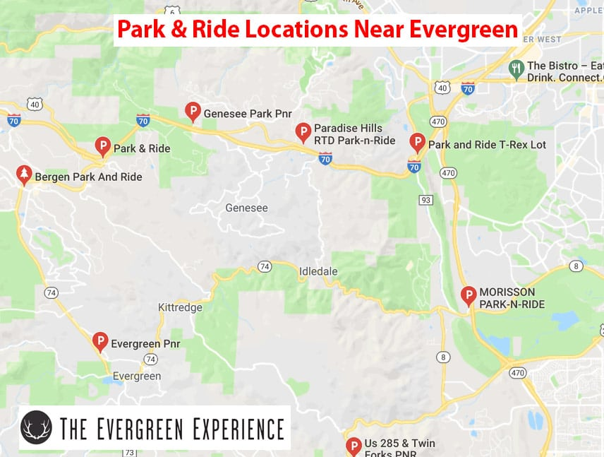 Park & Ride Locations Near Evergreen Co