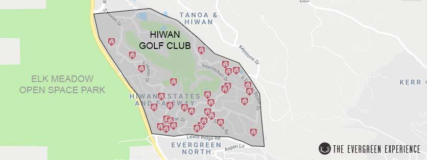 Hiwan Golf Club Neighborhood Map