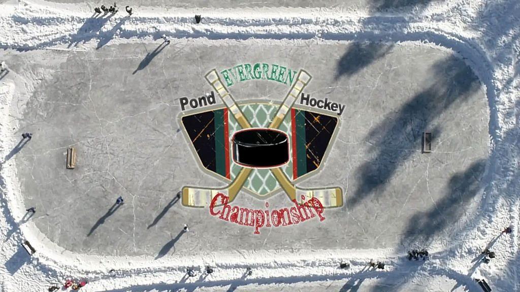 Hockey tournament Evergreen Lake
