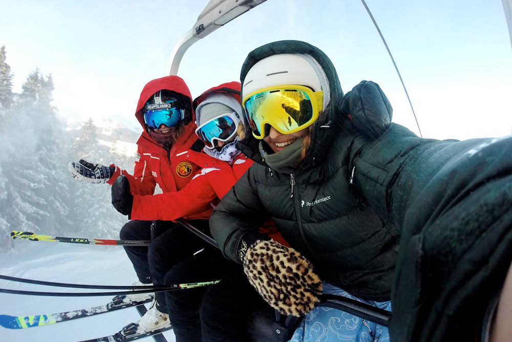 Skiing near Evergreen Colorado
