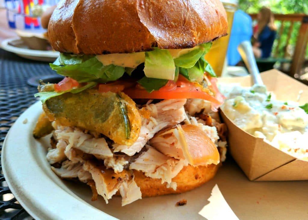 switchback smokehouse devils elbow sandwich