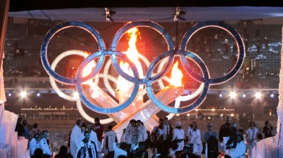Flaming Rings (Olympic Rings © International Olympic Committee)
