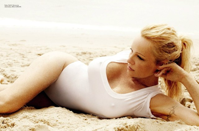 Pamela Anderson by Mario Testino for Vogue Brazil June 2013