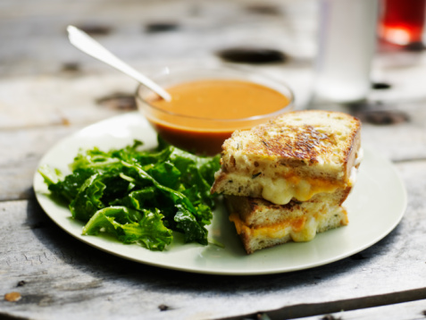 Cheese sandwiches can be made ahead and frozen for delicious grilled cheese sandwiches anytime