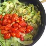 Zucchini Noodles with Roasted Cherry Tomatoes