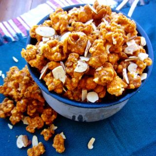 Smoked Paprika Caramel Corn with Honey Almonds