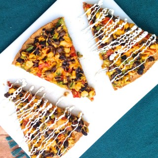 Black Bean Burrito Pizza