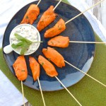 Buffalo Chicken on a Stick with Blue Cheese Dip