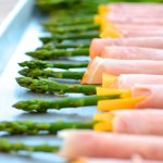 Ham and Cheese Asparagus Spears