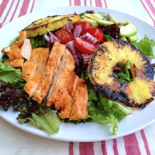 Sriracha Lime Chicken Salad with everything good (grilled pineapple and avocado) | theeverykitchen.com