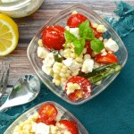 Summer Corn and Tomato Salad with Jalapeño-Lemon Feta