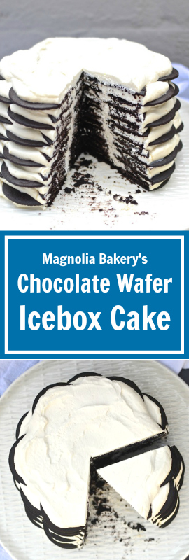 My FAVE: Magnolia Bakery Chocolate Wafer Icebox Cake | theeverykitchen.com