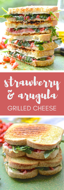 Strawberry and Arugula Grilled Cheese | theeverykitchen.com