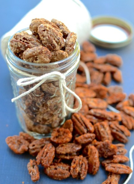 Candied and Spiced Pecans   www.theeverykitchen.com
