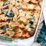 Turkey Sausage and Kale Bread Pudding