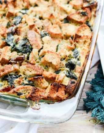 Turkey Sausage and Kale Bread Pudding | theeverykitchen.com