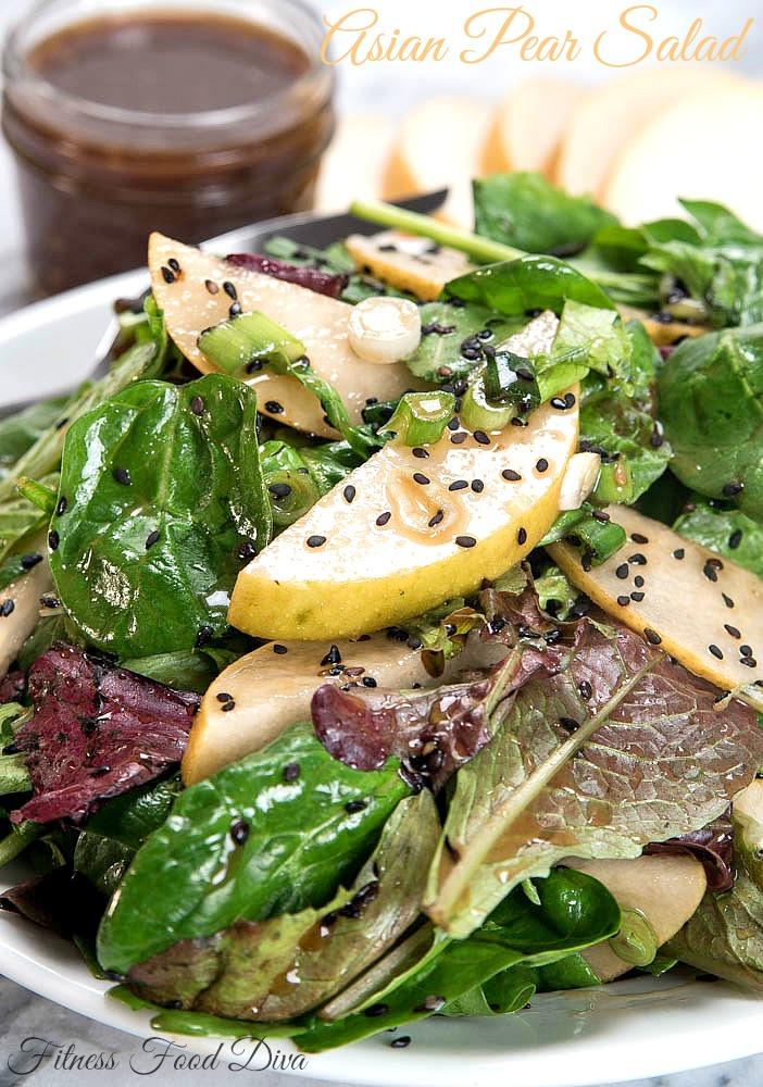 Asian Pear Salad | www.fitnessfooddiva.com