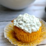 Buffalo Chicken Cornbread Muffins with Blue Cheese Topping