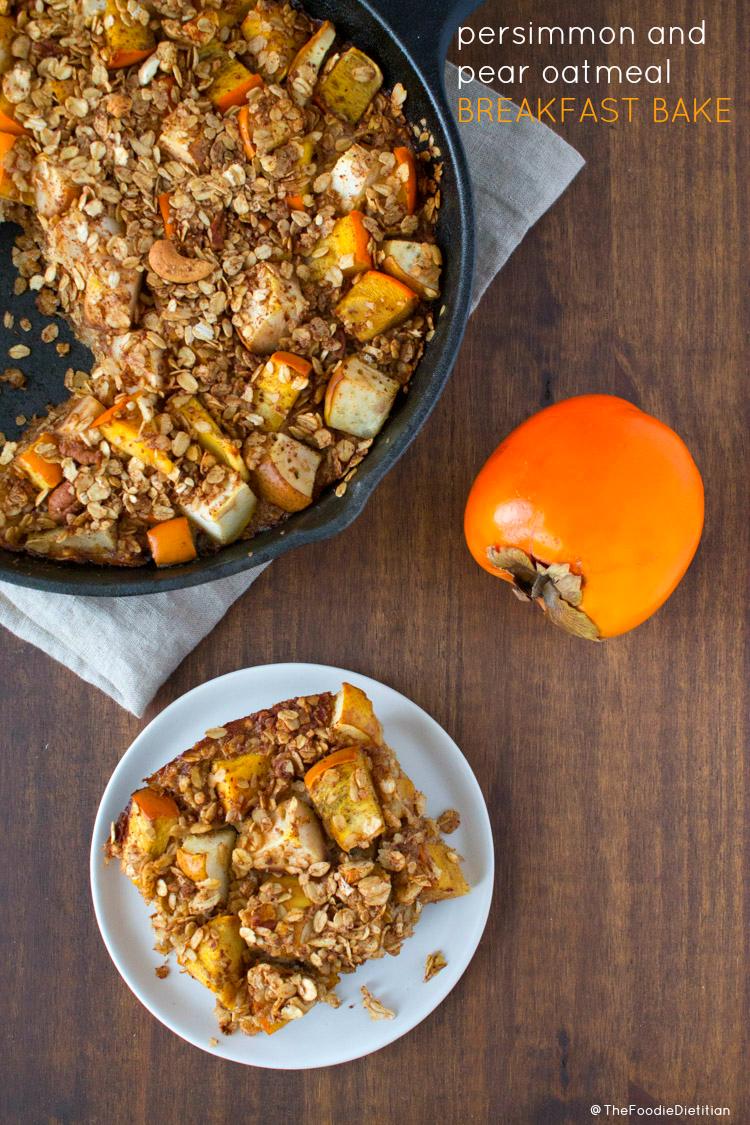 Persimmon & Pear Oatmeal Breakfast Bake | www.karalydon.com