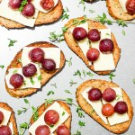 Roasted Grape Crostini with Brie and Thyme