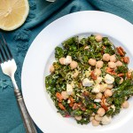 Superfood Kale Salad with Chickpeas, Pecans, and Feta