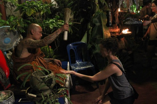 Blessed by a Buddhist monk in Thailand | www.theeverykitchen.com