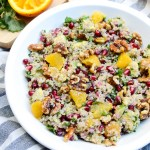 Citrus Avocado Quinoa Salad with Honey Walnuts
