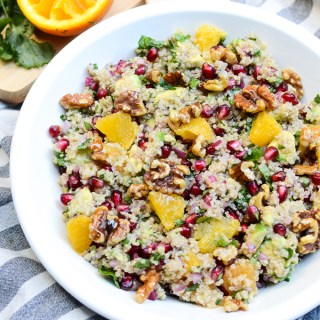 Citrus Avocado Quinoa Salad with Honey Walnuts | www.theeverykitchen.com