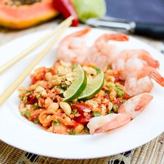Shrimp and Green Papaya Salad | www.theeverykitchen.com