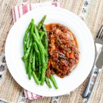 Braised Tuscan Pork Chops with Pan-Fried String Beans