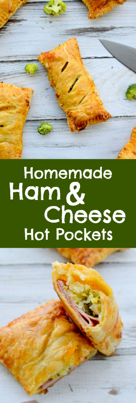 Homemade Ham & Cheese Hot Pockets | theeverykitchen.com
