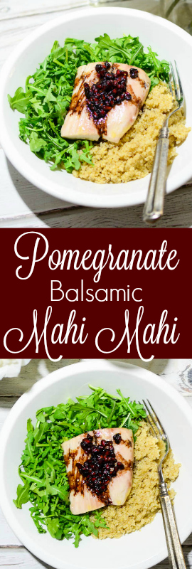 Simplify Date Night with Pomegranate Balsamic Mahi Mahi | theeverykitchen.com