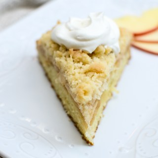 Irish Apple Crumb Cake with Honey Whipped Cream is a recipe match made in heaven. Eat it for breakfast or dessert... I ate it for both! | theeverykitchen.com