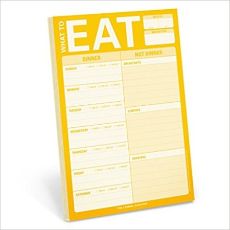 14 Kitchen Gifts for Mother's Day: What to Eat Notepad | theeverykitchen.com