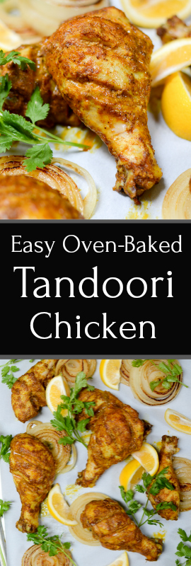 Easy Oven-Baked Tandoori Chicken is amazingly succulent with a sweet and smoky slow heat. The flavors may be complex, but the recipe is quite easy! Paleo, gluten free, sugar free. | theeverykitchen.com
